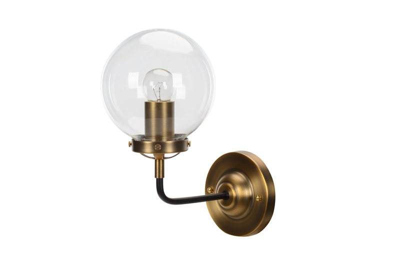 Lampa MORED 1 Złota Czyste Szkło