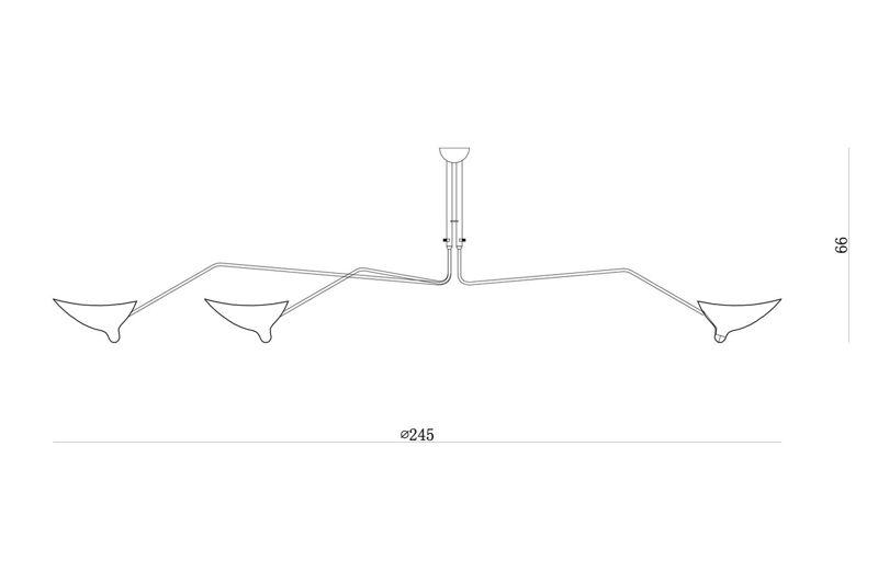 Lampa Sufitowa PYTHIM 3