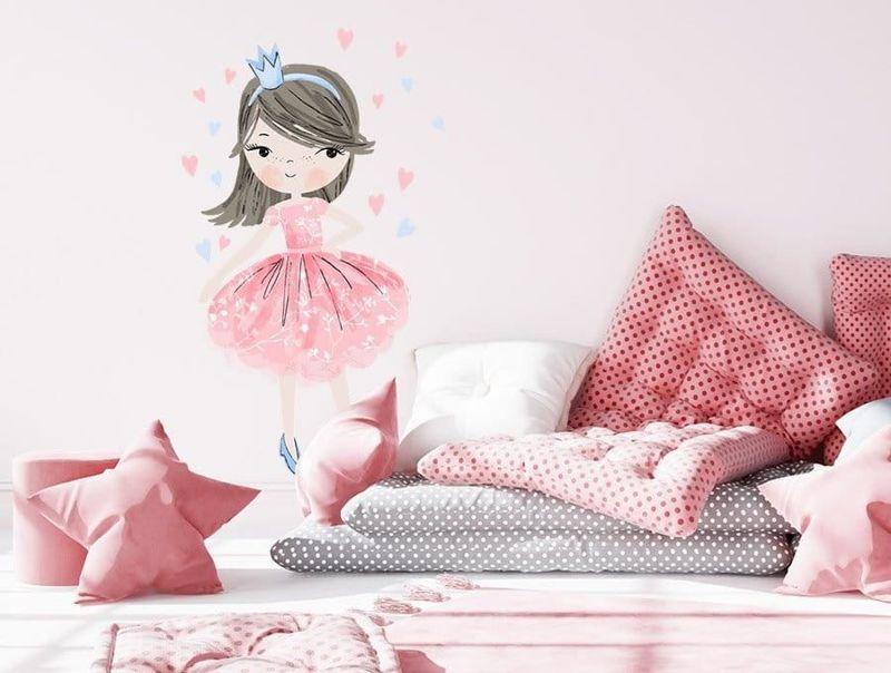 naklejka | księżniczka różowa Pastelowe Love