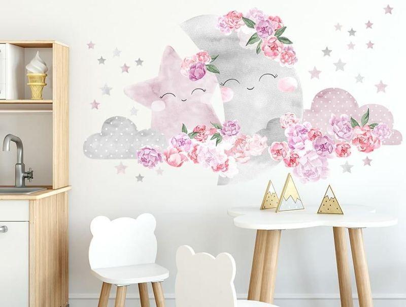 naklejka   księżyc różowy Pastelowe Love