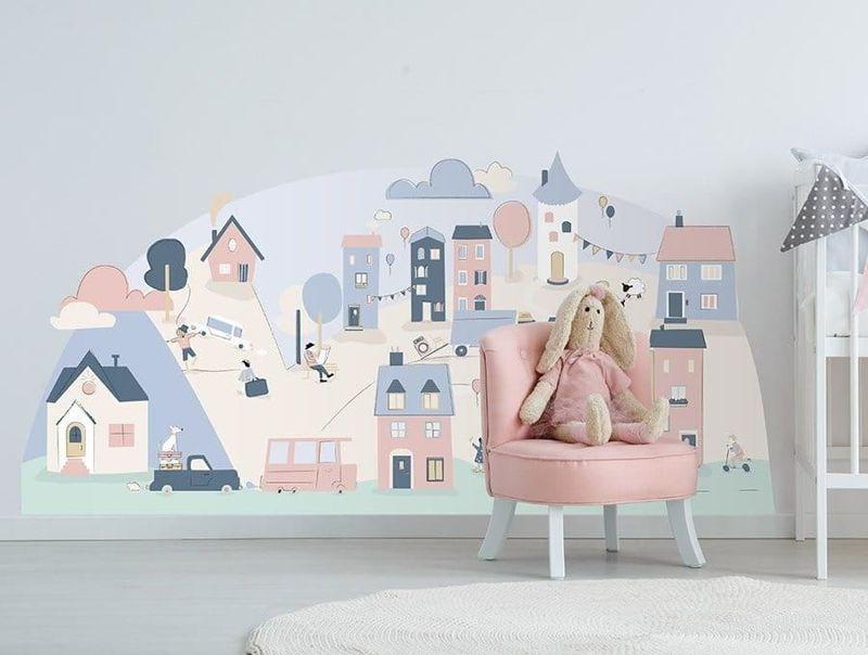 naklejka | miasteczko różowe Pastelowe Love