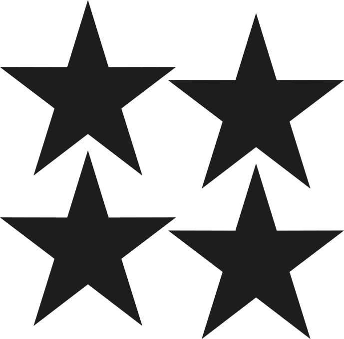 naklejki   gwiazdki - duże Pastelowe Love